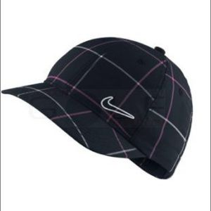 NWOT Nike Plaid Print Adjustable Cap Hat - New!